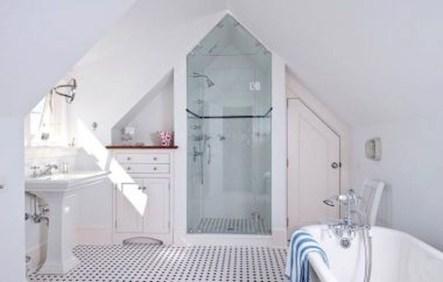 Cool attic bathroom remodel ideas 16