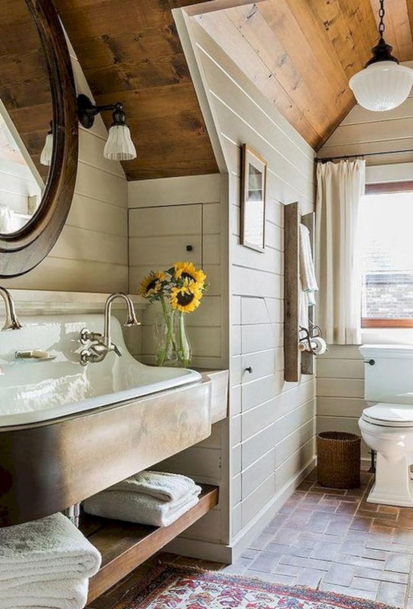 Cool attic bathroom remodel ideas 18