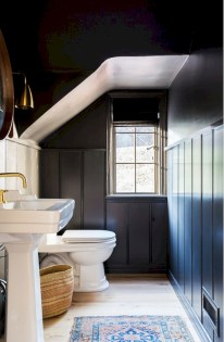 Cool attic bathroom remodel ideas 23