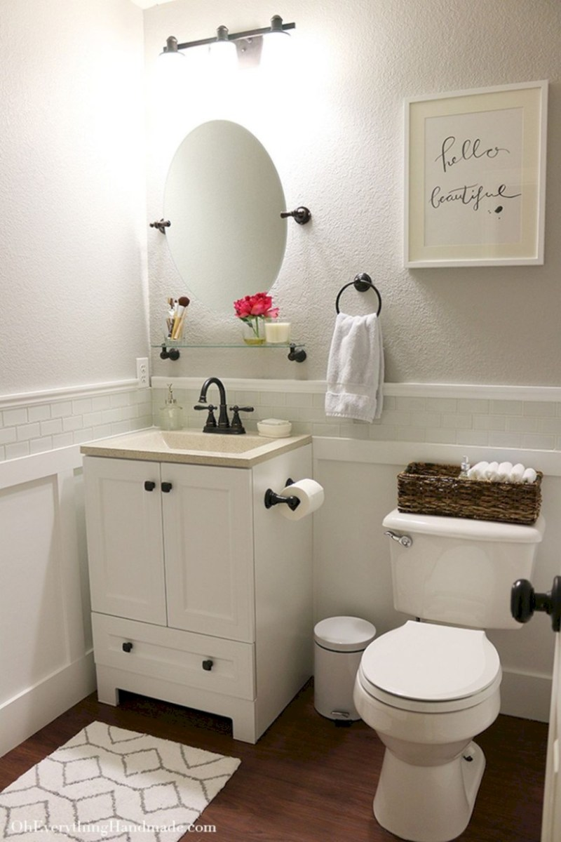 Cool attic bathroom remodel ideas 34