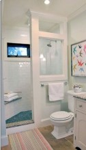 Cool attic bathroom remodel ideas 43