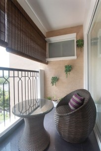 Cozy small balcony design decoration ideas 10