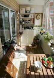 Cozy small balcony design decoration ideas 15