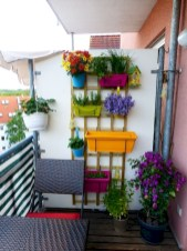 Cozy small balcony design decoration ideas 16