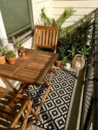 Cozy small balcony design decoration ideas 26