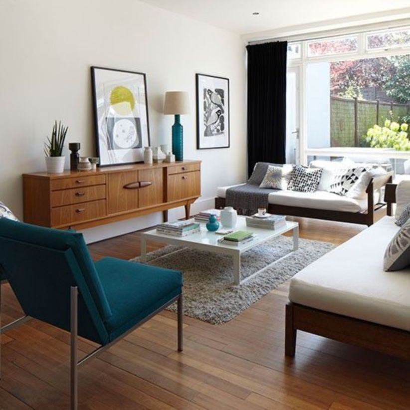 Mid century modern living room furniture ideas 33