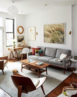 Mid century modern living room furniture ideas 34