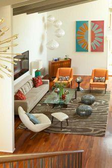 Mid century modern living room furniture ideas 42