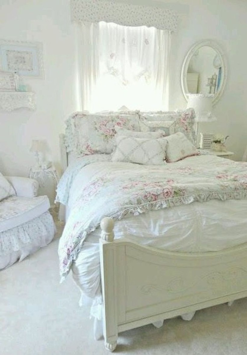 Romantic shabby chic bedroom decorating ideas 20