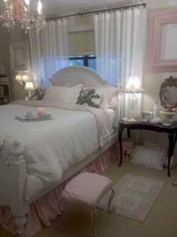 Romantic shabby chic bedroom decorating ideas 25