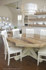 Rustic farmhouse dining room table decor ideas 05