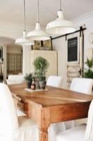 Rustic farmhouse dining room table decor ideas 17