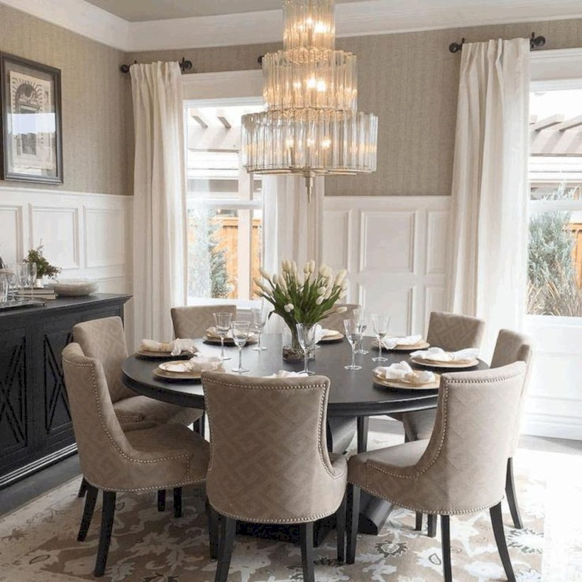 Rustic farmhouse dining room table decor ideas 20