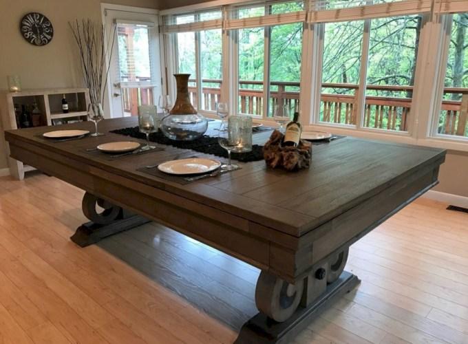 Rustic farmhouse dining room table decor ideas 32
