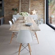Rustic farmhouse dining room table decor ideas 36