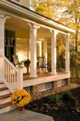 Rustic farmhouse porch steps decor ideas 27
