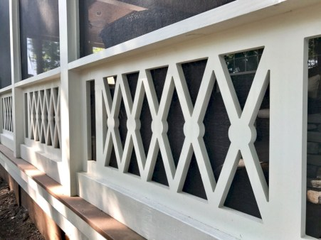 Rustic farmhouse porch steps decor ideas 36