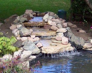 Small backyard waterfall design ideas 07