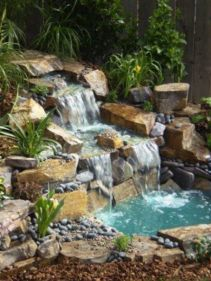 Small backyard waterfall design ideas 08
