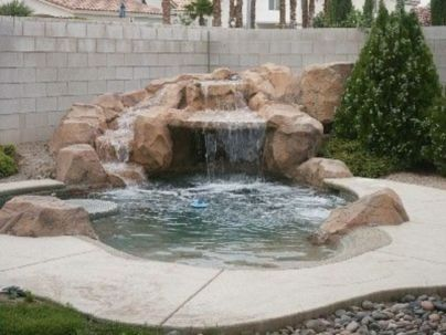 Small backyard waterfall design ideas 16