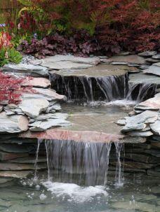 Small backyard waterfall design ideas 17