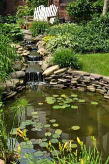Small backyard waterfall design ideas 21
