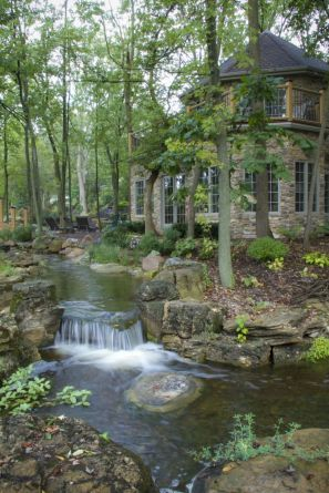 Small backyard waterfall design ideas 22