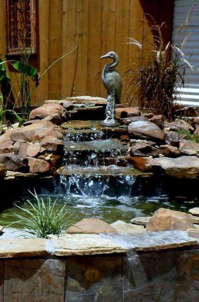 Small backyard waterfall design ideas 28