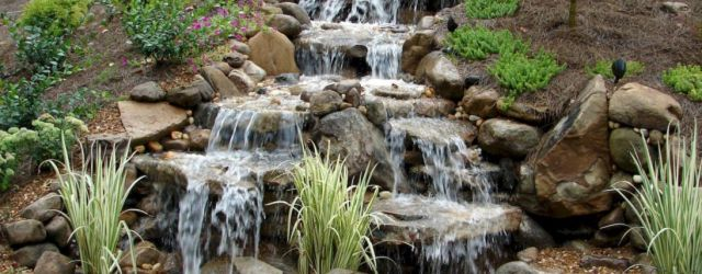 Small backyard waterfall design ideas 46