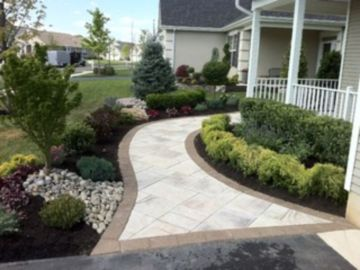 Stunning front yard entrance path walkway landscaping ideas 07