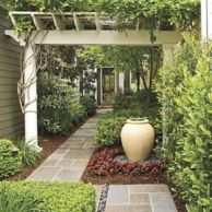 Stunning front yard entrance path walkway landscaping ideas 22