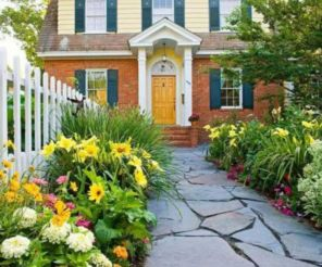 Stunning front yard entrance path walkway landscaping ideas 35
