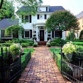 Stunning front yard entrance path walkway landscaping ideas 38