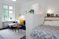 Stylish apartment studio decor furniture ideas 01