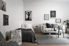 Stylish apartment studio decor furniture ideas 14