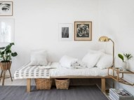 Stylish apartment studio decor furniture ideas 21