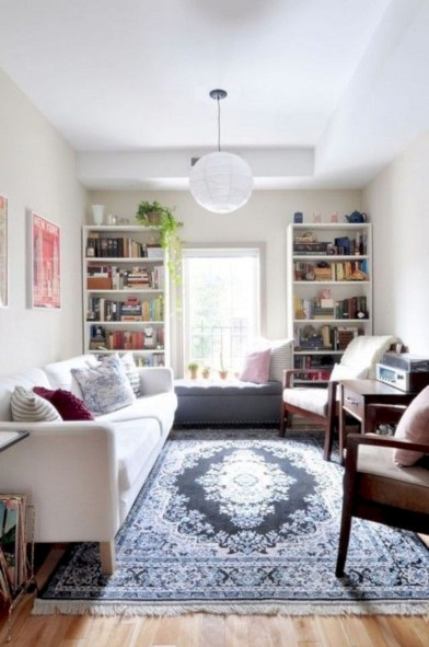 Stylish apartment studio decor furniture ideas 31