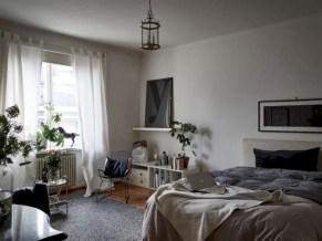 Stylish apartment studio decor furniture ideas 36