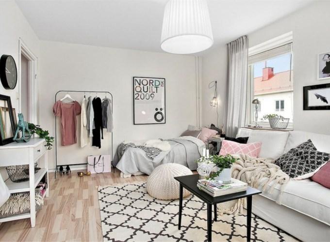 Stylish apartment studio decor furniture ideas 43