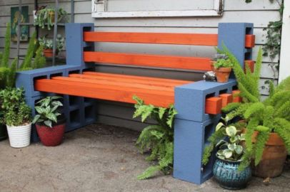 Adorable easy cinder block ideas for garden (1)