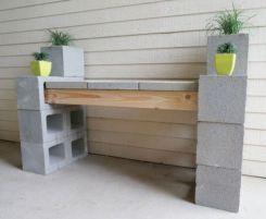Adorable easy cinder block ideas for garden (25)