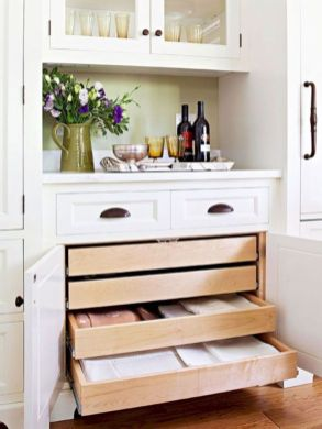 Affordable kitchen cabinet organization hack ideas (25)