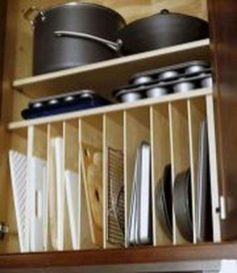 Affordable kitchen cabinet organization hack ideas (26)