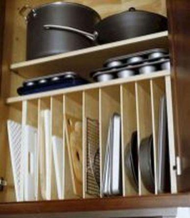 Affordable kitchen cabinet organization hack ideas (26)