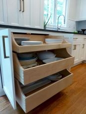 Affordable kitchen cabinet organization hack ideas (27)