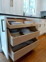 Affordable kitchen cabinet organization hack ideas (27)