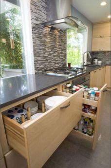 Affordable kitchen cabinet organization hack ideas (6)