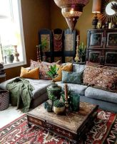 Amazing bohemian style living room decor ideas (10)