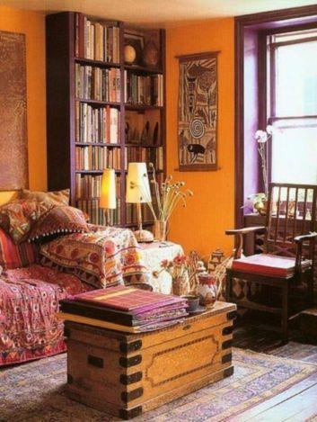 Amazing bohemian style living room decor ideas (14)