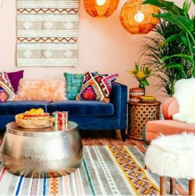 Amazing bohemian style living room decor ideas (16)